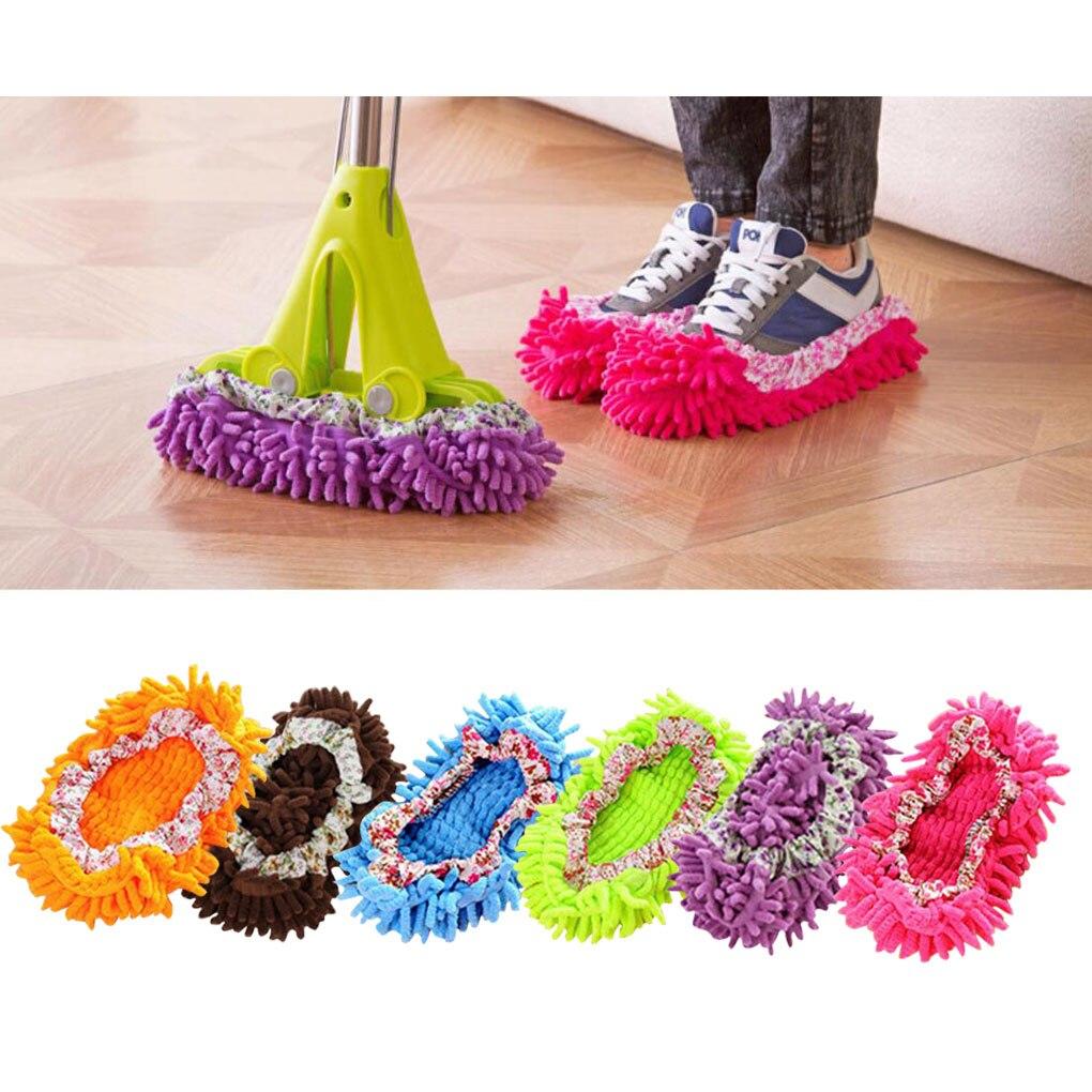 2pcs Floor Mopping Shoe Cover Floor Mopper Slipper Home Floor Cleaner Cleaning Reusable Floor Mopping Shoe Cover 1