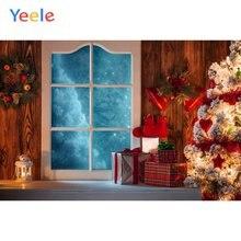 Рождественский Декор Дерево Венок Дверь деревянный пол стена