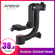 Andoer Aluminum Alloy Gimbal Head Pan Tilt Tripod Head Adopt for Arca Swiss Quick Release Plate for DLSR Camera mouriv mv tgb2 professional photography 360 degree carbon fiber gimbal tripod head with arca swiss quick release plate for dslr