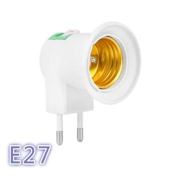 Adaptador de portalámparas E27 fácil de usar, tipo UE, extensor de enchufe,...