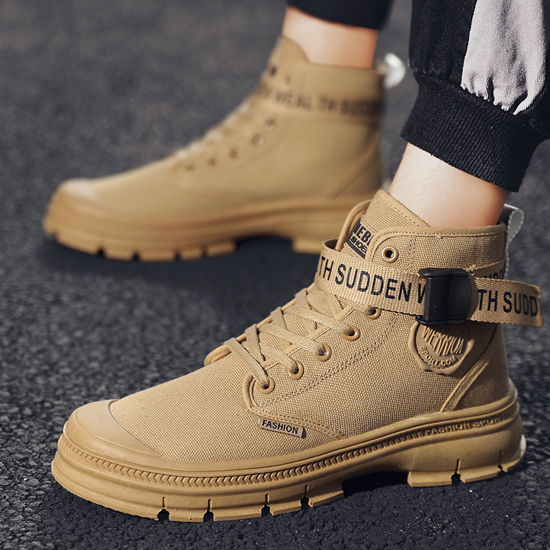 Martin boots summer new men's American style trend high help versatile tooling boots military boots retro breathable men's boots