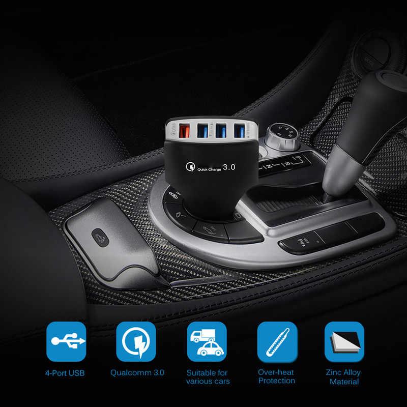 Untuk Huawei P9 P10 P20 Lite Mate 20 Pro LG G5 Bluboo S8 Doogee Mix 2 BL9000 Pendek Tipe C usb Kawat QC 3.0 Cepat Charger Mobil