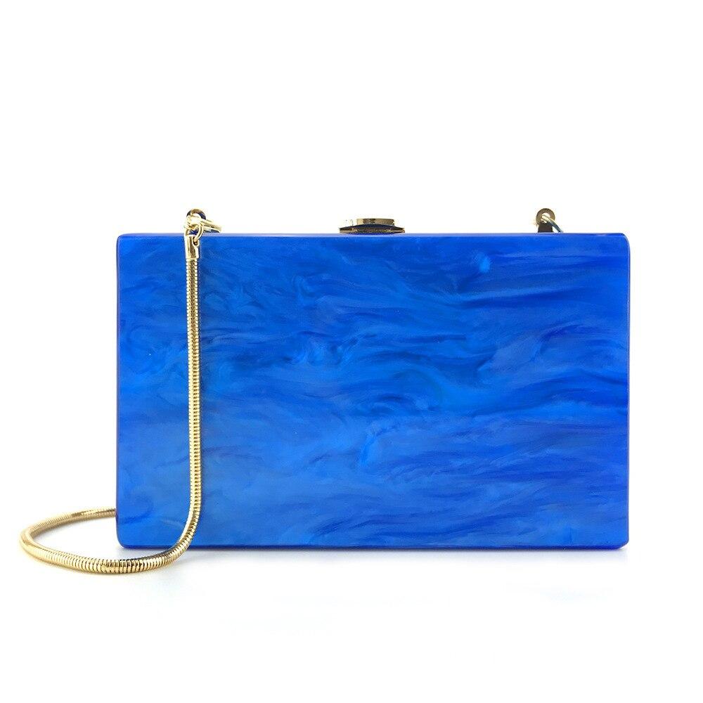 Perle bleu blanc rose boîte acrylique pochettes portefeuille sac à main Obag voyage été plage fête soirée épaule sacs à main femme sacs