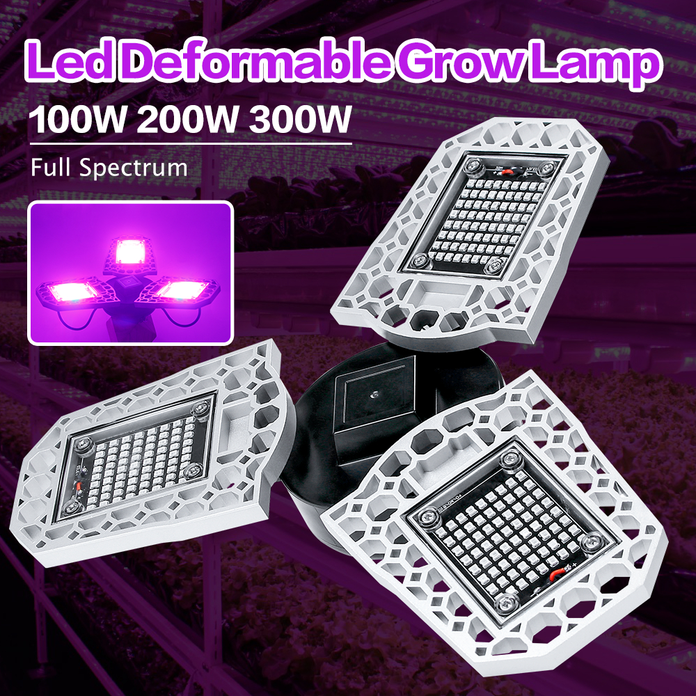 LED Cob Full Spectrum 100W 200w 300W LED Grow Light AC100-277V LED Plant Growth Lamp Vegetable Flower Hydroponics Grow Tent