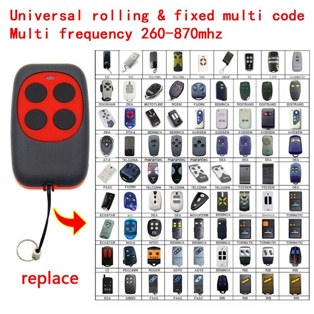 SERAI OG 02 Garage Door Remote Control 433.92 2 blue buttons compatible remote