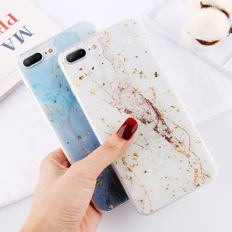 Lovebay Gold Foil Bling Marble For iPhone 11 Pro Max X XS Max XR Phone Case