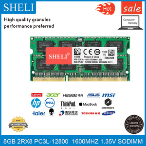 Шели 8 Гб оперативной памяти, 16 Гб встроенной памяти, PC3L-12800S CL11 DDR3-1600 память для компьютера 1,35 v 204pin оперативная память so-dimm для ноутбука модул...