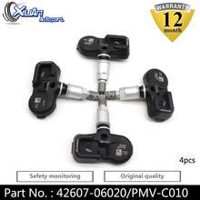 XUAN 4PCS Tire Pressure Monitor Sensor TPMS 42607-52020 For Toyota Avalon Camry Corolla iM Highlander Rav-4 Prius C Prime Yaris