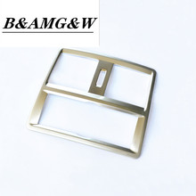 Car Styling Central Armrest Rear Air Conditioning Outlet Frame Decoration Sticker Trim For Mercedes Benz GLE W166 GLS X166