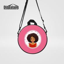 Women Mini Round Messenger Bag For Traveling African Girl Pr