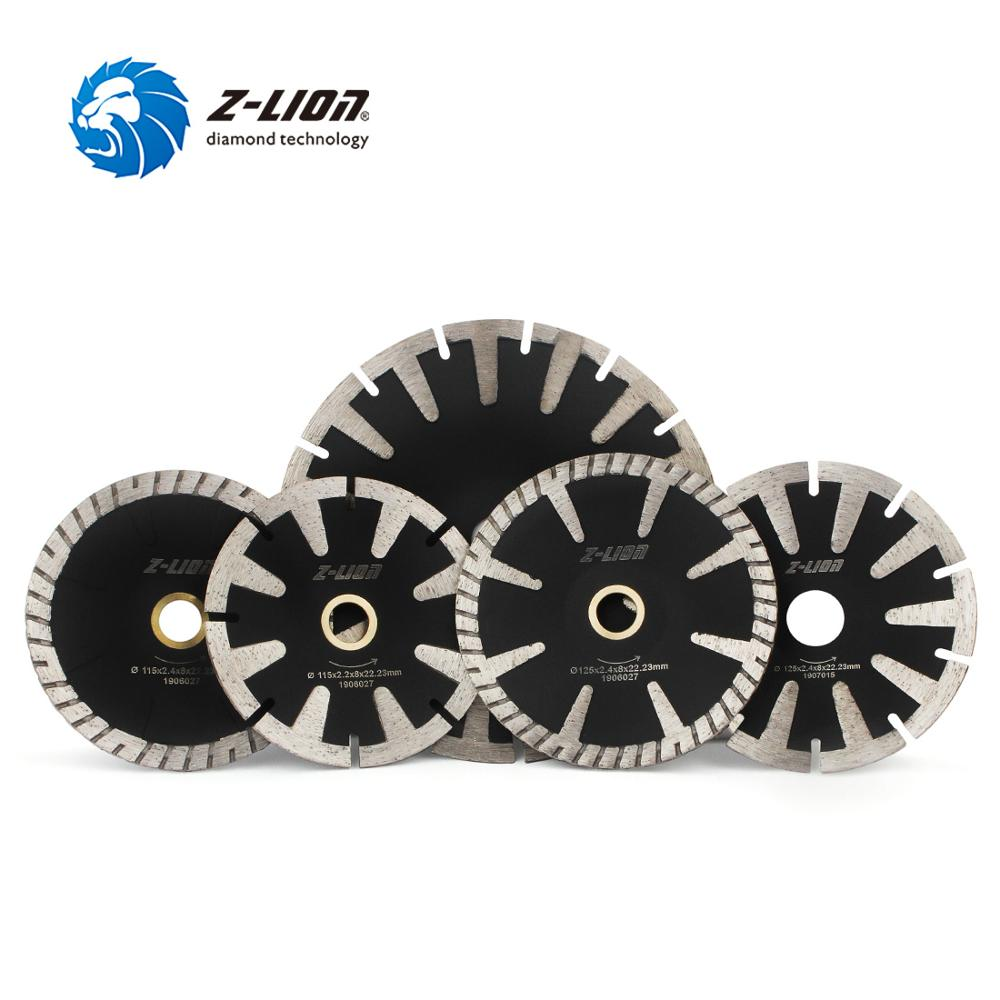 Z-LION 1PC 115/125/180mm Diamond Concave Saw Blade Protection Teeth Concrete Granite Marble Stone Cutting Disc For Angle Grinder