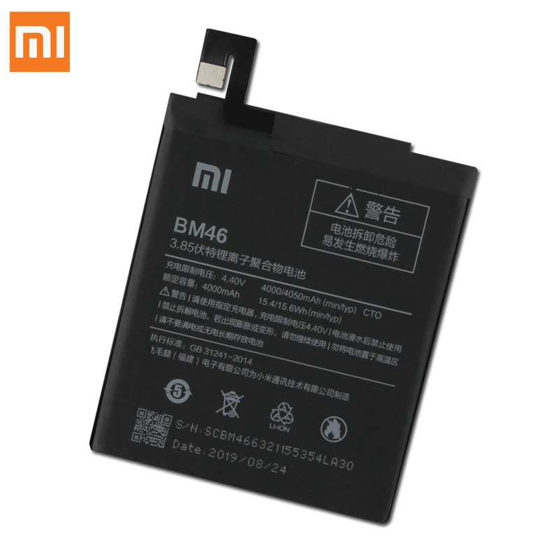 Image 4 - XiaoMi Original Replacement Battery BM46 For Xiaomi Redmi Note 3 Pro Redrice Note3 100% New Authentic Phone Battery 4050mAh-in Mobile Phone Batteries from Cellphones & Telecommunications