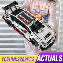Yeshin 23012 High-Tech APP Motorized Car Model The MOC-6687 AMGed C63 DTM Building Blocks Assembly Bricks Kids Christmas Gifts