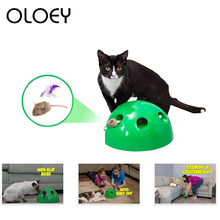 Cat Toy POP N PLAY Funny Interactive False Mouse Scratching Device For Sharpen Claw Training Playing Pet Product