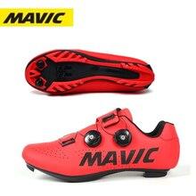 Новинка, велосипедная обувь MAVIC для горных велосипедов, дышащая обувь для триатлона, мужская спортивная обувь для дорожных гонок, с вращающе...