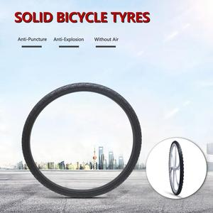 26*1.95 Bicycle Solid Tire 26 Inch Anti Stab Riding MTB Road Bike Solid Tyre Cycling Tyre Inflation-free explosion-proof tire