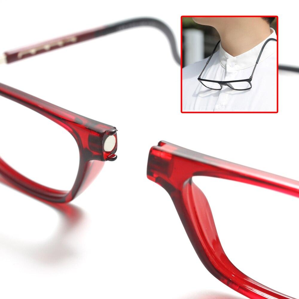 TR90 Hanging Neck Magnetic Reading Glasses Magnifier for Reading Men Presbyopic Glasses Woman Anti Blue Light Blocking