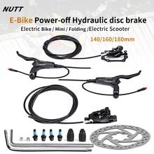 NUTT MTB e bike elettrico E Scooter bicicletta disco freno idraulico 140mm 160 180 rotore Fat Mini KUGOO G Booster / G1 / ES3 duinclon