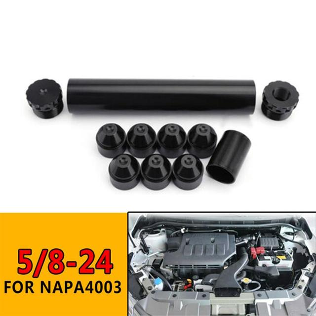 1//2-28, Nero 11Pcs Car Solvent Trap Aluminum Fuel Filters Kit for NAPA 4003 WIX 24003 6061-T6 Automobiles Filters Parts