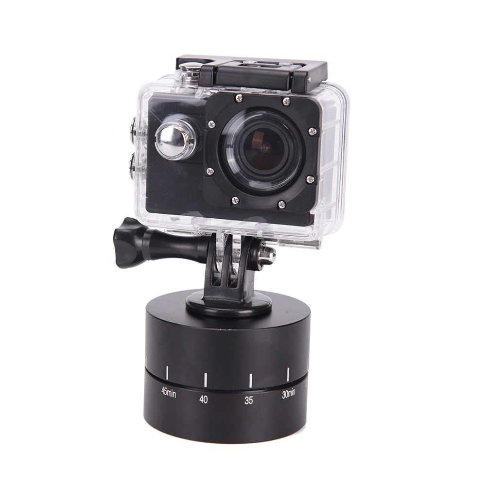 Jetting 360 Derajat Selang Waktu Auto Memutar Kamera Tripod Kepala Base 360 Berputar Timelapse untuk GoPro Kamera SLR untuk iPhone