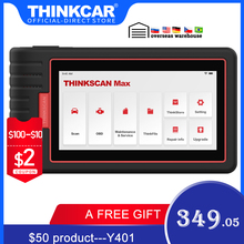 Thinkcar Thinkscan Max Full System Professional OBD2 Scanner Automotive Code Reader with Free 28 Reset Function PK CRP909/MK808