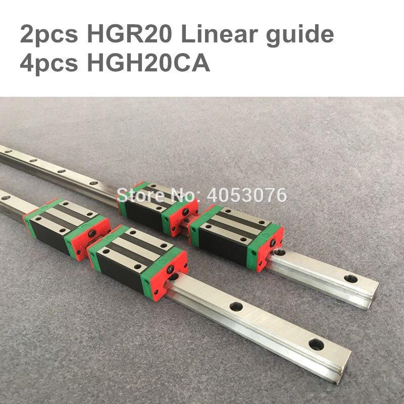 Бесплатная доставка 20 мм 2шт HGR20 линейный рельс 1200 мм 1500 мм и 4 шт HGH20CA или HGW20CA линейный подшипник в корпусе CNC части