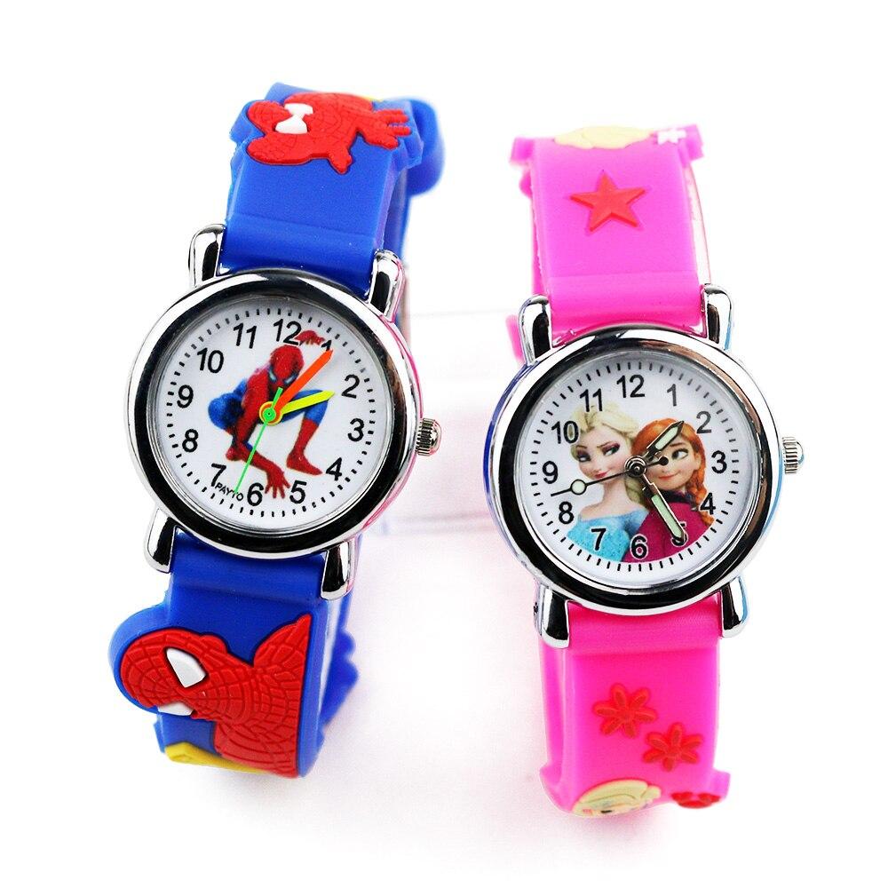 Children Watch Batman Cute Princess Elsa Kids Watches Boys Cartoon Girls Watch Quartz Clock Wrist Relojes Relogio