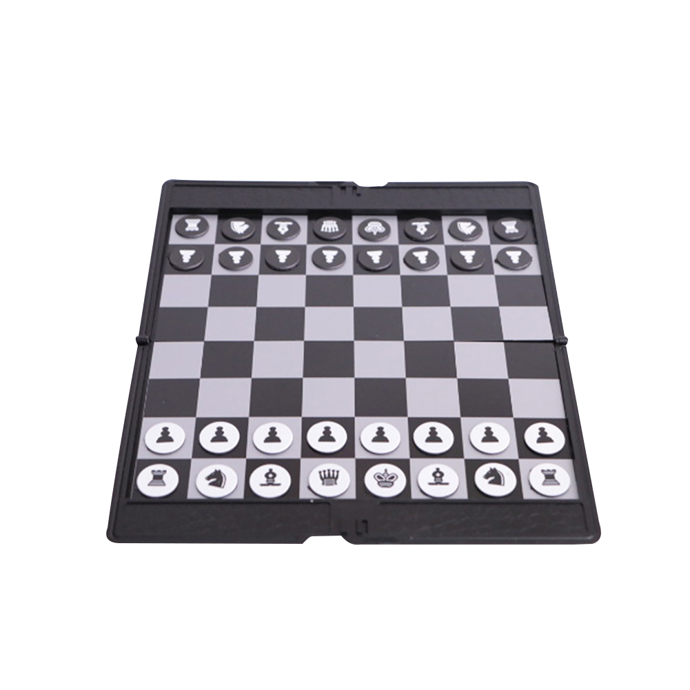 Easy Carry Travel Size Folding Magnetic Board Gold Silver Color Chess Game Set