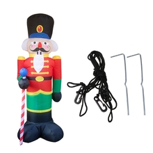 Prop Inflatable-Airblown-Ornaments Giant Cartoon Family Soldier Yard Lawn Holiday Home