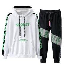 Paragraph Lang Legendary Men tracksuit men Suit Hoodies+pants Sweat suit 2 Pieces Sets Hip Hop Streetwear suits mens clothing