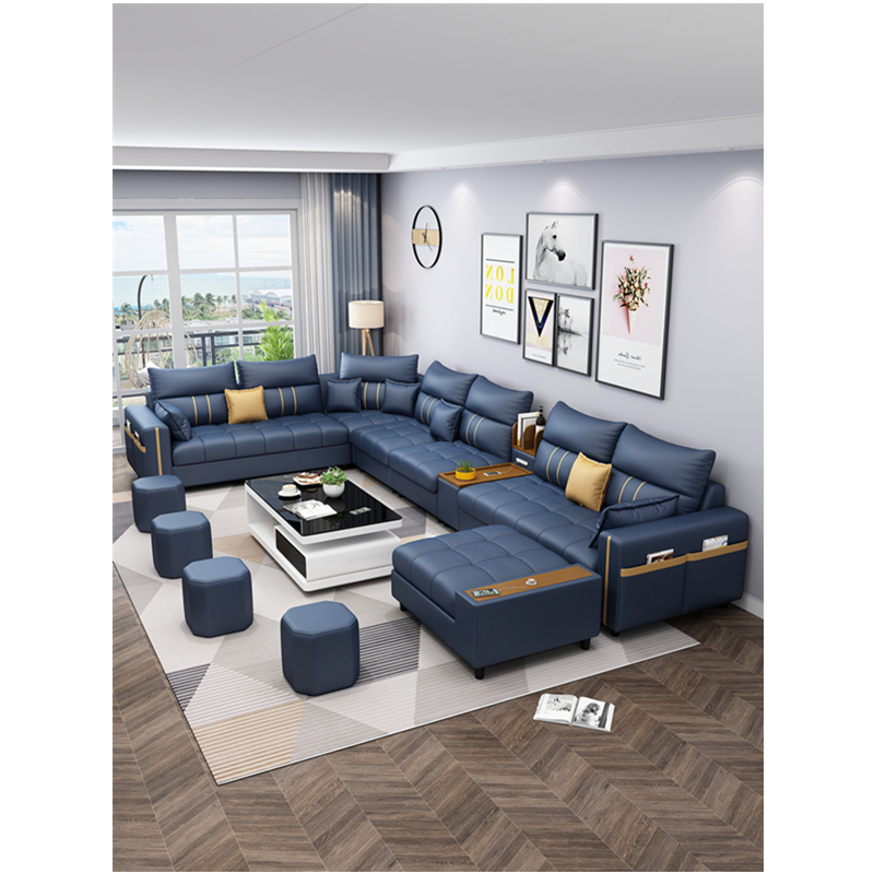 modern design corner customized fabric living room sofas 3