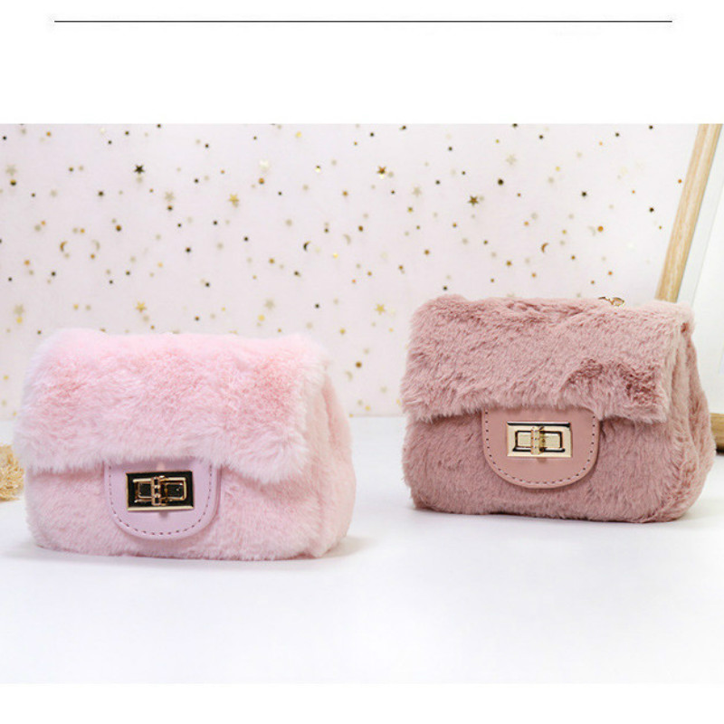 Kids Mini Clutch Purse Cute Plush Crossbody Bags for Women Small Coin Pouch Girls Wallet Pures and Bags Gift