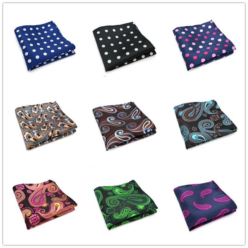 61-80 Vintage Mens 100% Silk Handkerchiefs Paisley Stripes Polka DOTS Pocket Squares For Suits Jackets Wedding Party Business