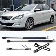 For Peugeot 408 MK2 2014 2015 2016 2017 2018 2019 Car Bonnet Cover Lifting Support Strut Bars Hydraulic Rod Gas Spring Styling 2016 spring