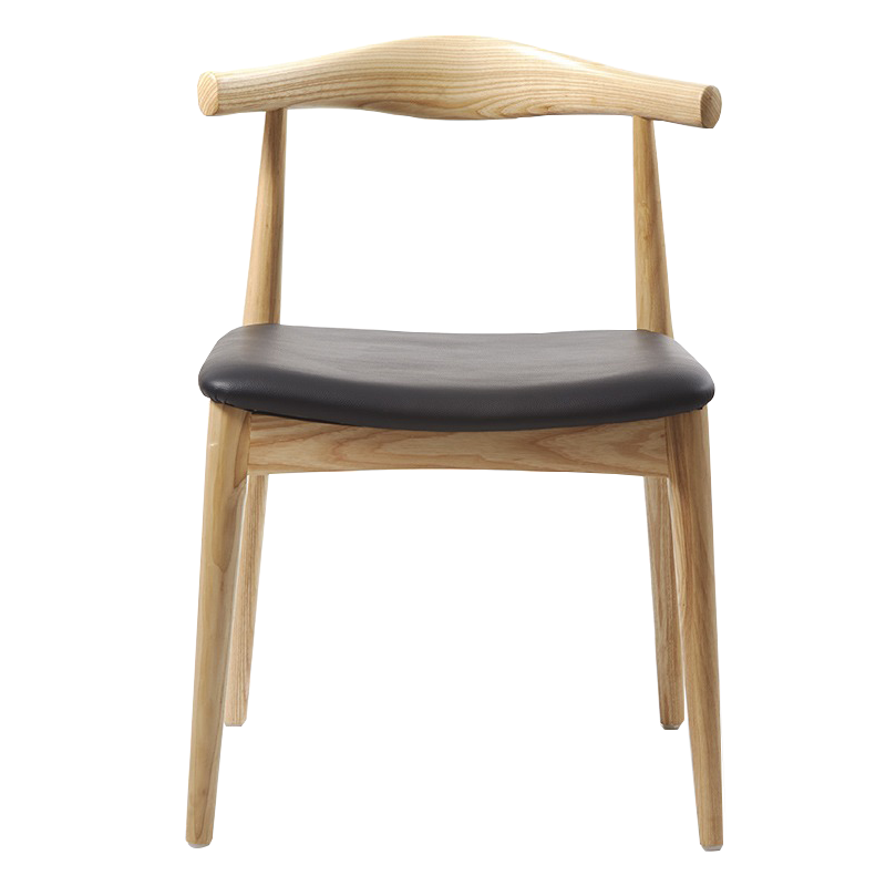 Chinese Dining Chair Solid Wood Restaurant Chair Nordic Coffee Shop Home Horn Chair Wood Y Tea Room Back
