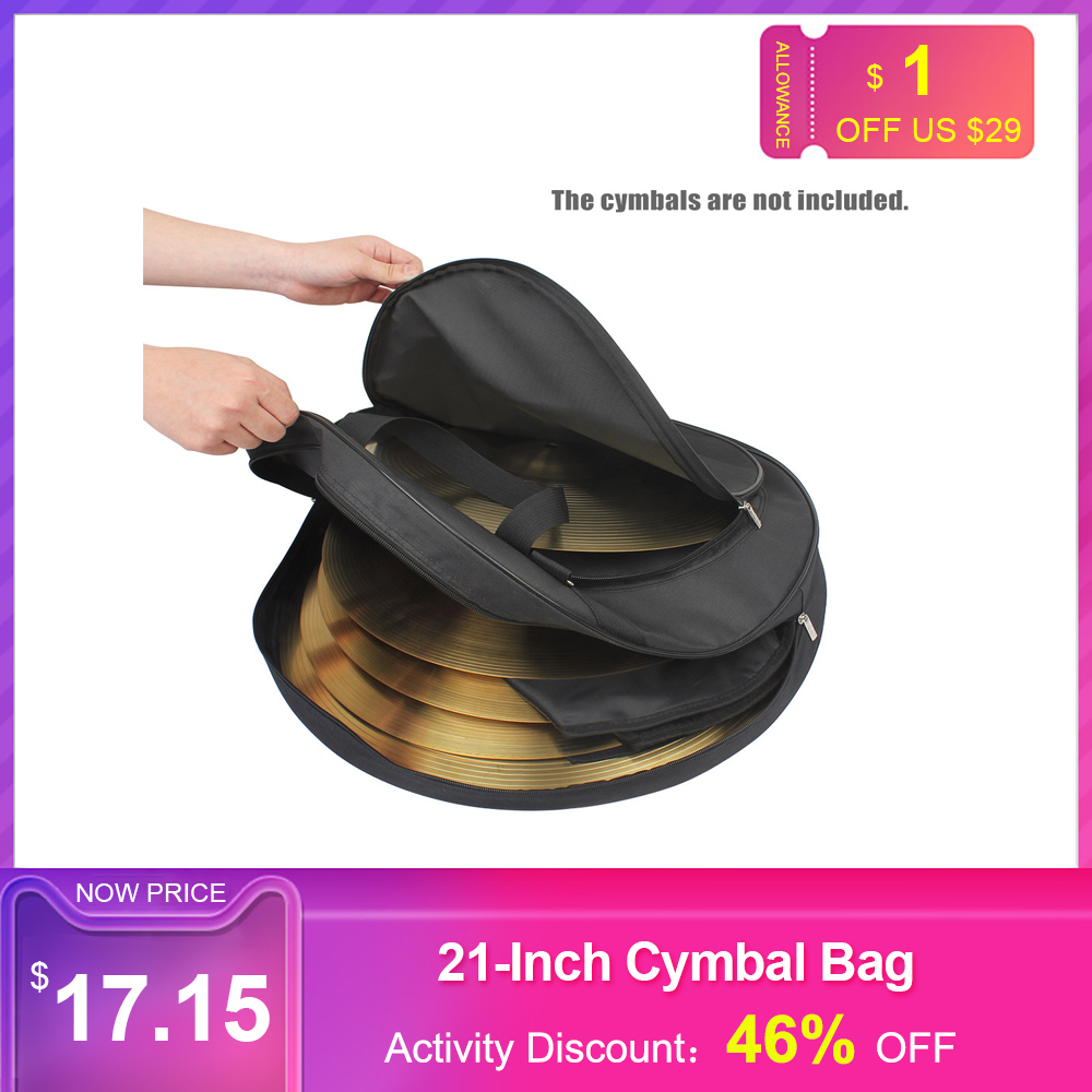 21-Inch Three Pockets Cymbal Bag Backpack With Removable Divider Shoulder Strap Percussion Instruments Drum Accessories Bag Hot