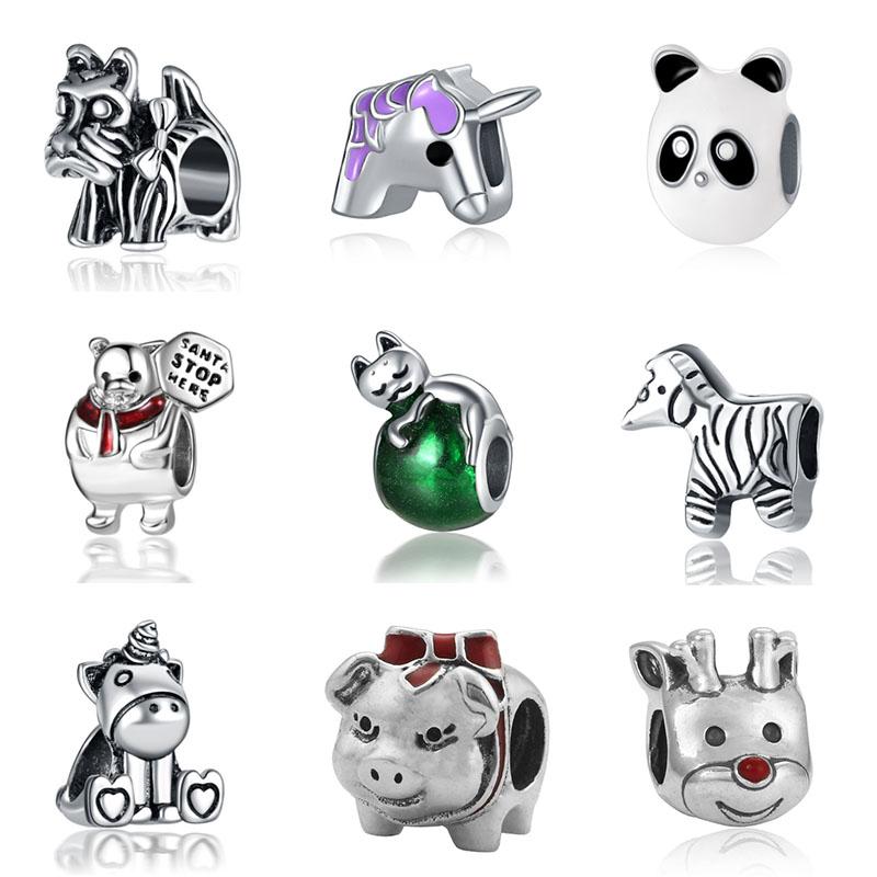DIY unicorn beads jewelry bijoux bracciale bisuteria french bead silver perfumes mujer originales bracelet charms
