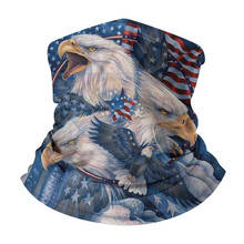 American Flag Eagle Pattern Magic Scarf Cycling Seamless Balaclava Head Scarves Outdoor Sports Headband Neck Warmer Gaiter