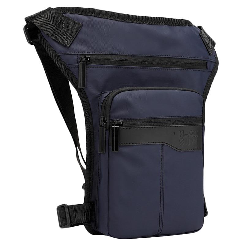Motorcycle Hip Belt Waist Fanny Pack Riding Travel Shoulder Messenger Cross Body Bags Oxford Cloth Men Thigh Drop Leg Bag