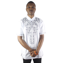Muslim African Mens Embroidery Dress Elegant Ethnic Blouse