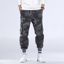 8XL Men ฤดูใบไม้ร่วงลำลอง streetwear ทหาร Camo Cargo กางเกงกางเกงชายชุดฤดูหนาวสะโพก Hop Camouflage กระเป๋าผ้าฝ้ายกางเกงผู้ชาย