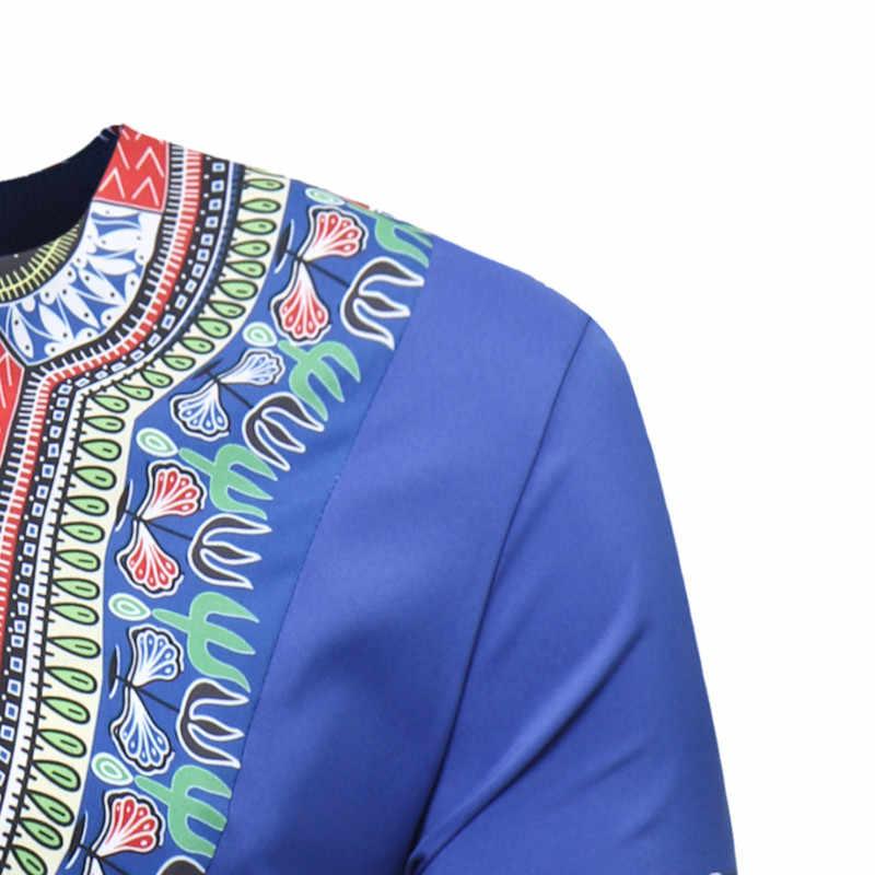 2019 แฟชั่นฤดูร้อนใหม่ PLUS ขนาดแอฟริกันผู้ชายเสื้อยืด M-3XL