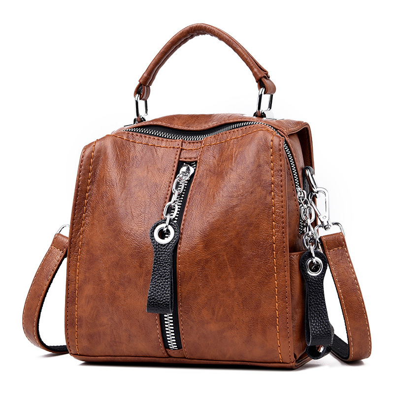 Women Leather Bag In 2020 New Fashion Brand Top Quality Crossbody ZDG H19-013 Document Bag