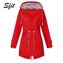 Sfit женский плащ, переходная куртка, закат, длинный, осень, зима, дождевик, походная куртка, для улицы, кемпинга, ветрозащитная куртка, пальто