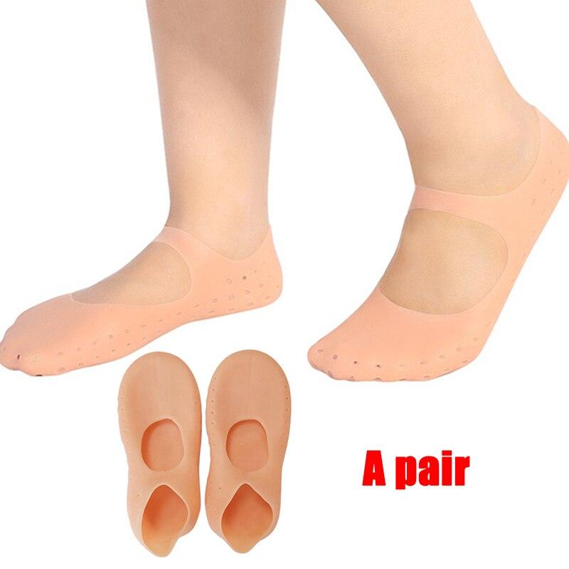 1 пара силиконовые инструмент для ухода за потрескавшимися ногами Увлажняющие гелевые пяточные носки трещины защита и уход за кожей педикю...