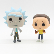 цена на 10cm Rick and Morty Cute Vinyl Figure Collection Model Toys without Retail Box