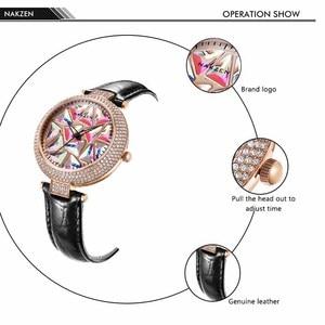 Image 2 - Nakzen 高級ブランド腕時計ファッションレザー腕時計生活防水時計レディース腕時計ギフト女性のための relojes