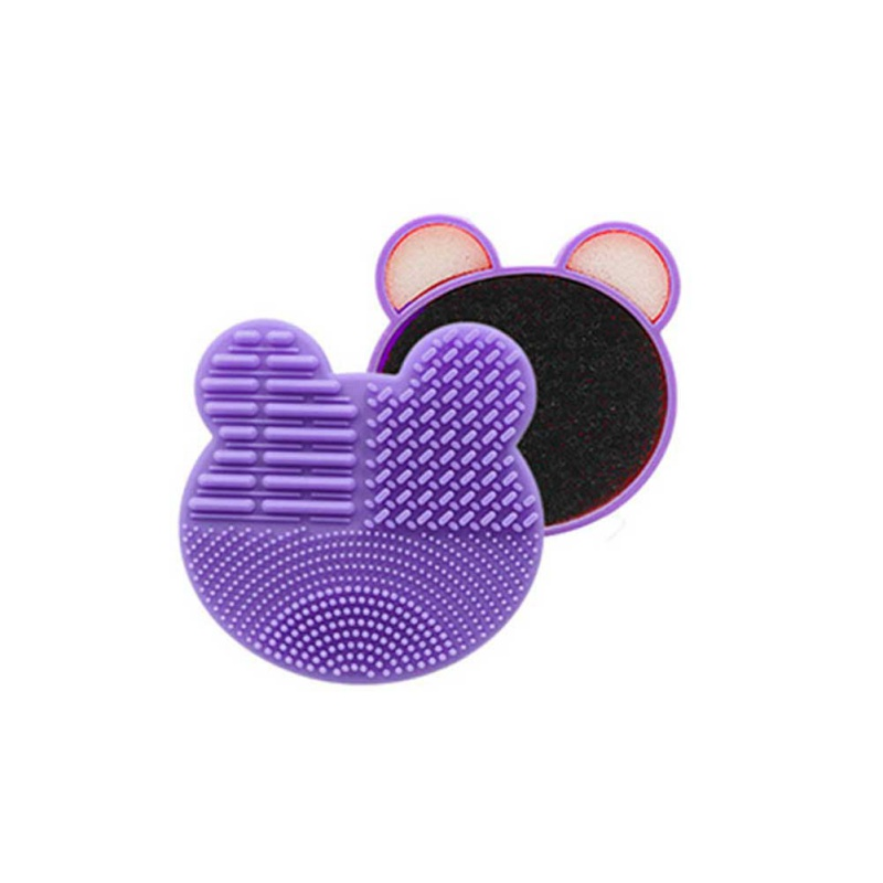 Bear Makeup Brush Cleaner Washing Brush Pad Cleaning Mat Cosmetic Brush Cleaner Universal Make up Tool Scrubber Box