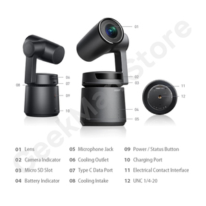 Image 3 - OBSBOTหางAuto Director AIกล้องTrackซูมอัตโนมัติจับ 4K/60fps Vs Insta360 One X Evo 360 กล้อง