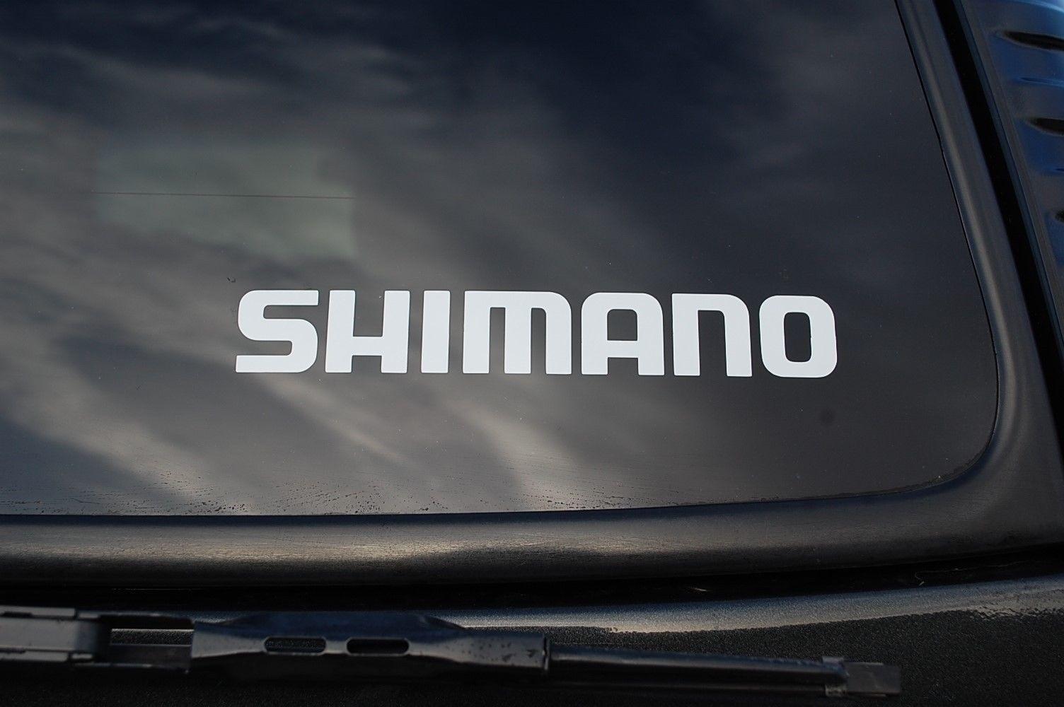 Fishing Sticker Vinyl Decal SHIMANO Exterior Window 15cm
